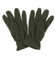 gants polaires unis kaki