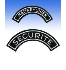 ecusson demi-lune maitre-chien et securité