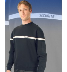 sweat shirt securité bande grise