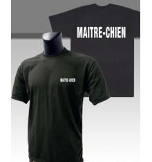 t shirt imprimé maitre-chien noir
