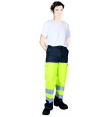 Pantalon HV classe II Jaune fluo/marine