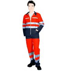 Blouson-veste classe II orange fluo/marine