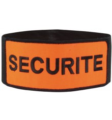 brassard sécurité brodé tissu orange