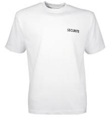 t shirt imprimé securité blanc   CITYGUARD